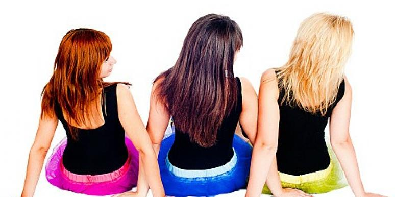 three women with different hair color