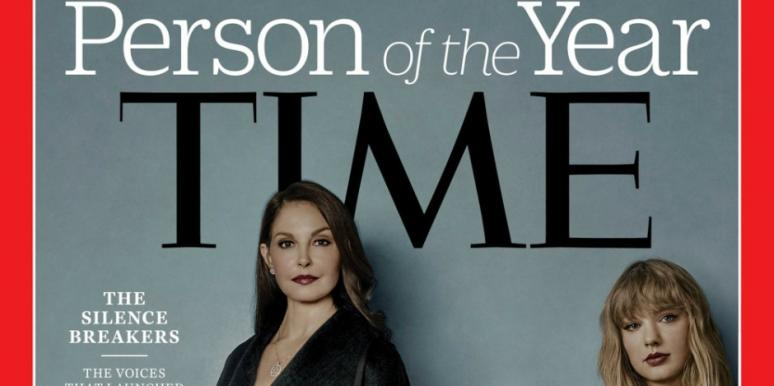 Whose arm is on the cover of TIME Magazine's Person of the Year 2017