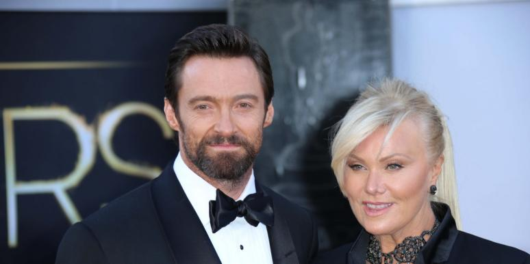 hugh jackman posing with wife deborra lee furness