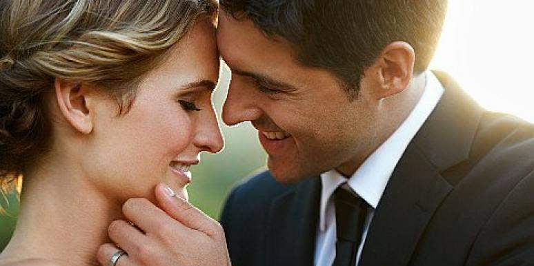 couple touching