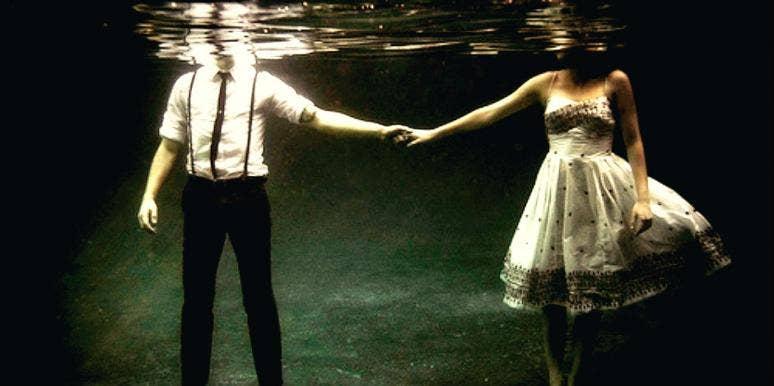 lovers under water