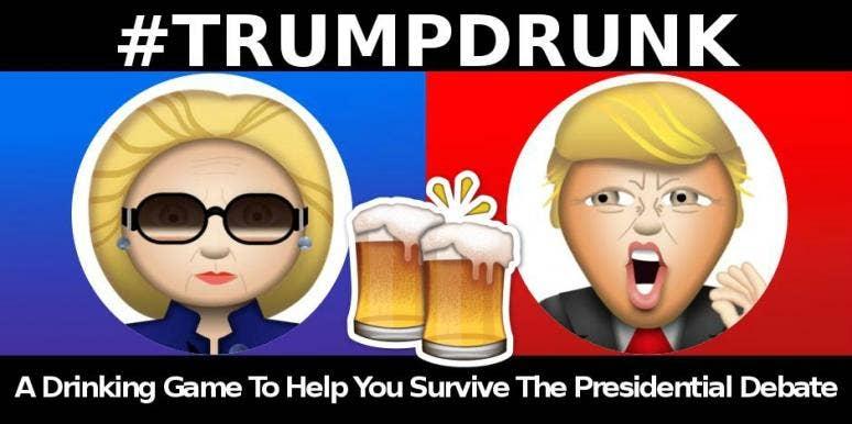 trump hillary drinking game debate