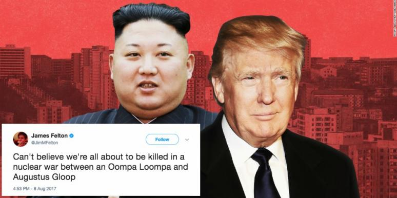 Image of: Best Tweets And Funny Memes About Donald Trump And Kim Jonguns Nuclear War Threats Yourtango 16 Best Tweets And Funny Memes About Donald Trump And Kim Jong Un