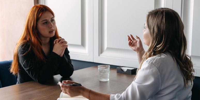 woman in therapy with therapist