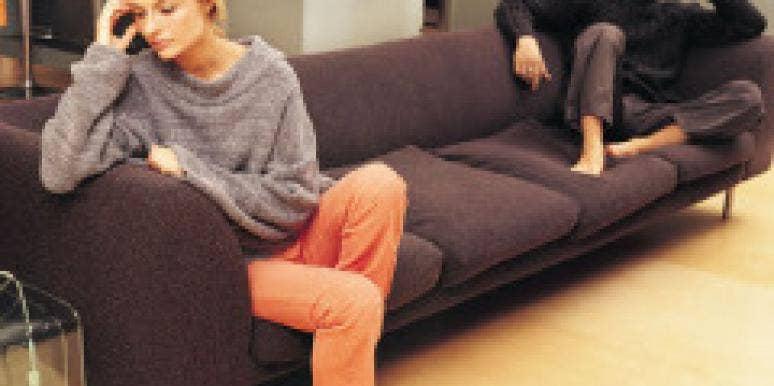 Self abusing on the sofa