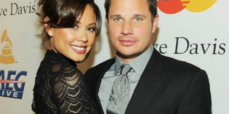 Vanessa Minnillo and Nick Lachey happy