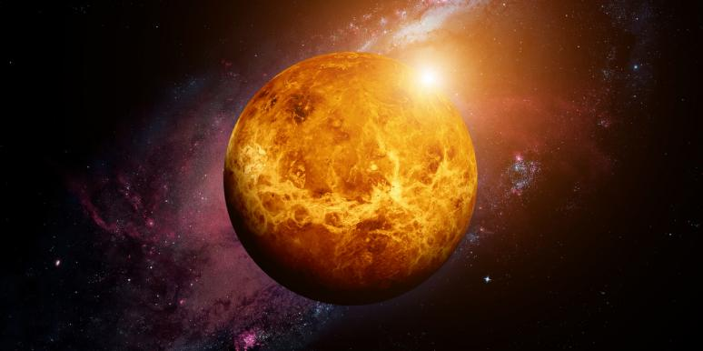 venus the planet of love and beauty in outer space