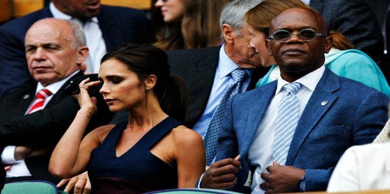 Samuel L. Jackson And Victoria Beckham
