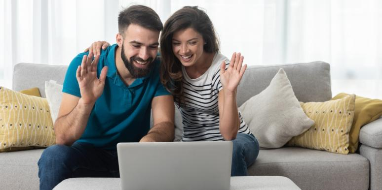 couple on a video call