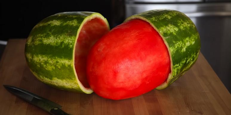 We Do Not Like Looking At This Photo Of A Skinned Watermelon