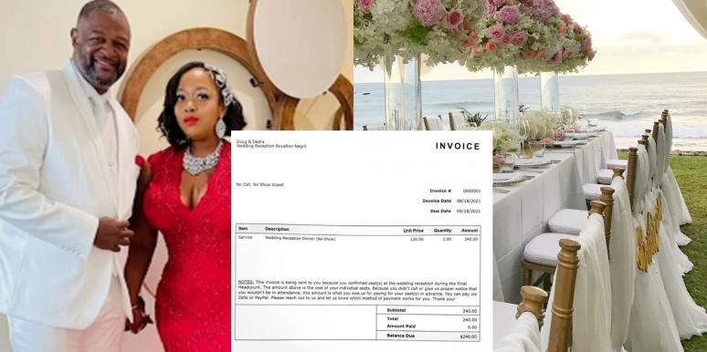 Newlyweds Post $240 Bill For No-Show Wedding Guests