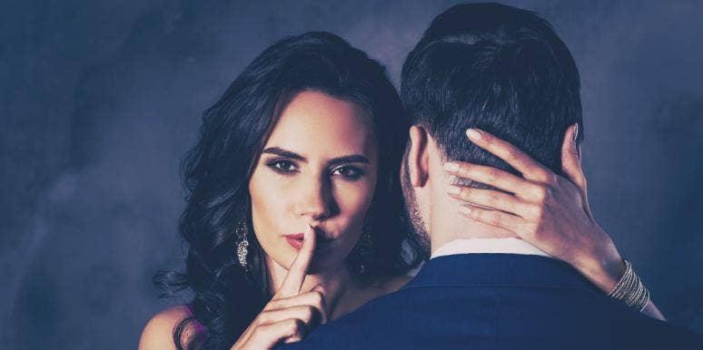 woman keeping a secret