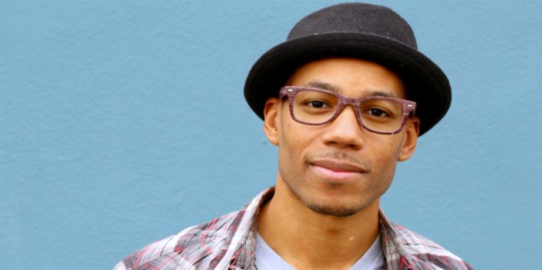 handsome man in hat and glasses
