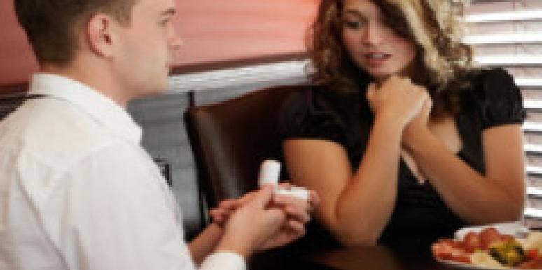 man proposing to women