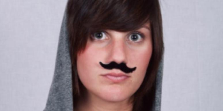 woman mustache