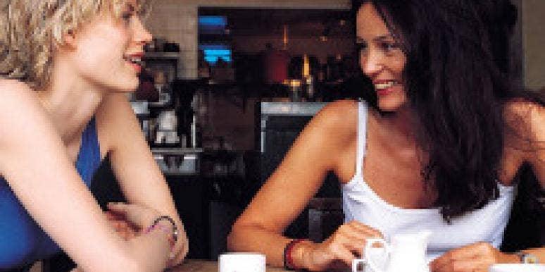 women drinking coffee