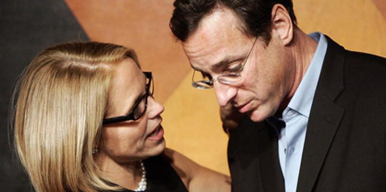 Katie Couric and Bob Saget at Caroline's in New York City