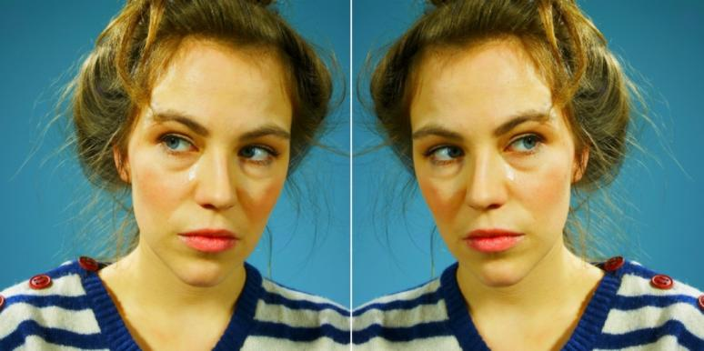 woman giving a side eye