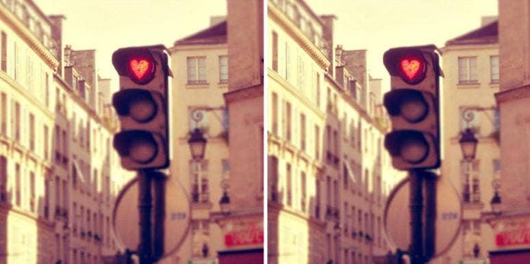 heart traffic light