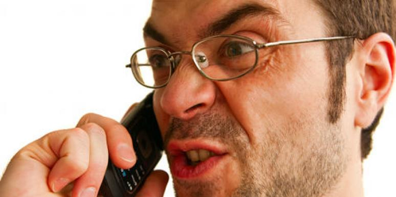 angry on the phone