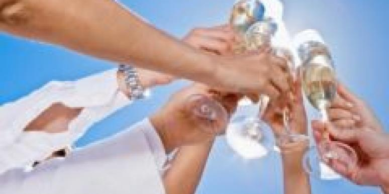 toast friends sky glasses celebrate