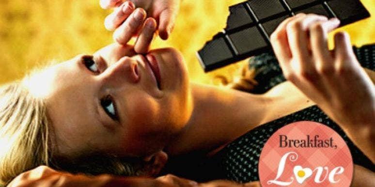 Woman and chocolate