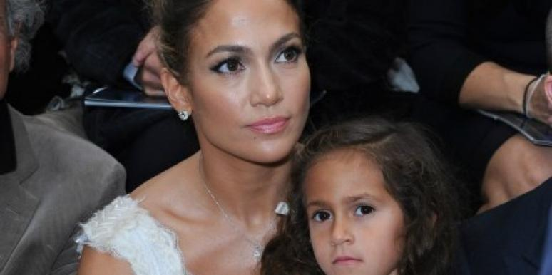 Jennifer Lopez and her daughter