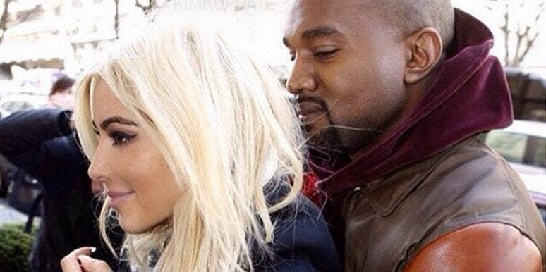 Kim Kardashian and Kanye West at Paris Fashion Week from Kim Kardashian's Instagram page
