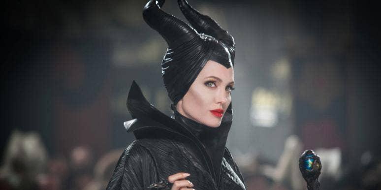 "Angelina Jolie as Disney villain Maleficent, the secret former love of the king of ""Sleeping Beauty"""