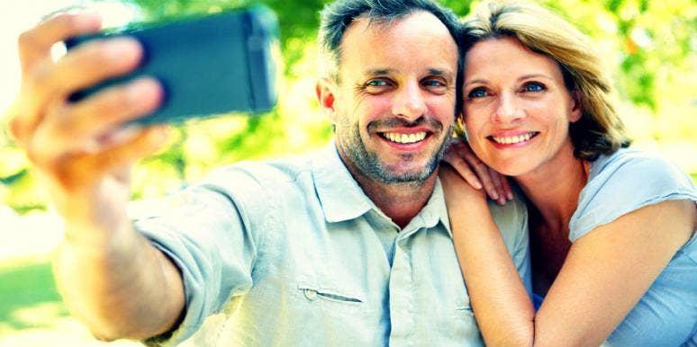 couple selfie