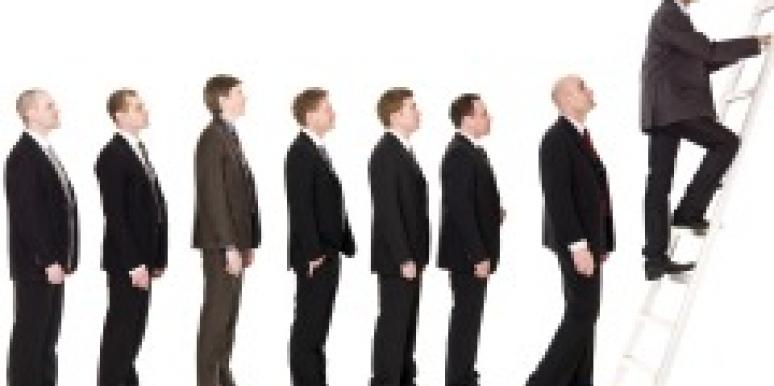 Line up of men in suits