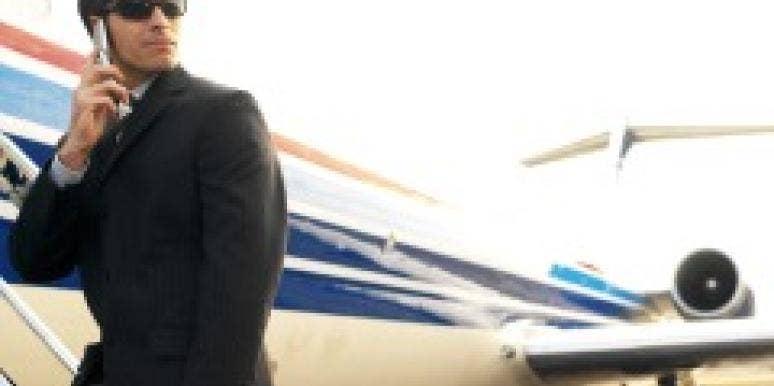 Man boarding a plane