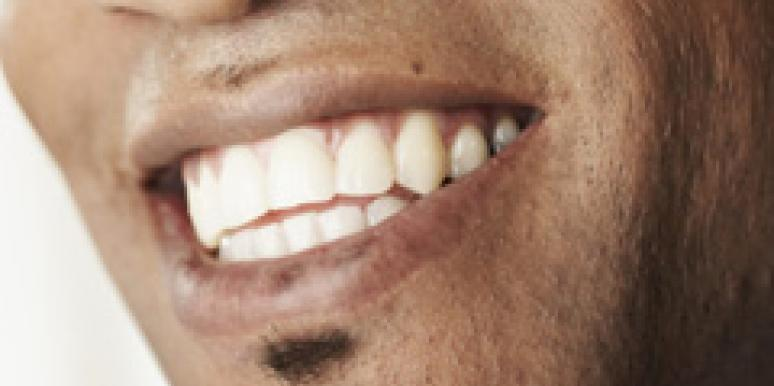 man's mouth