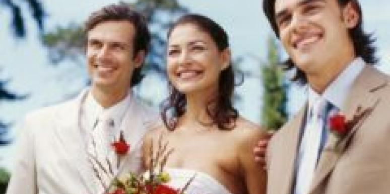 bride with two men