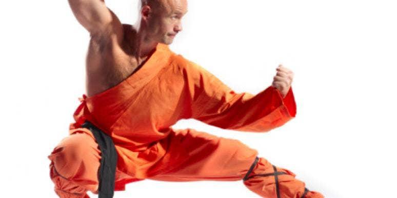 Martial Artist Crouching