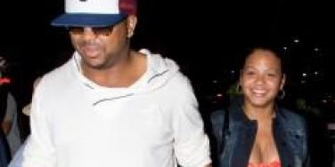 Christina Milian and The-Dream walking together.