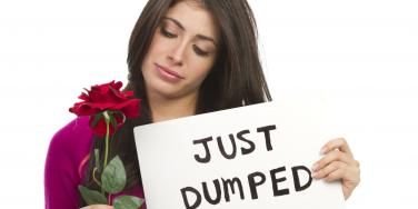 woman with flowers just dumped