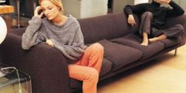 angry couple on opposite ends of couch