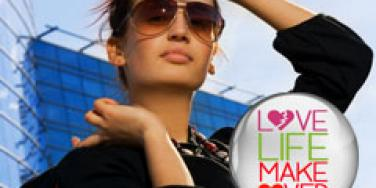 attractive woman wearing sunglasses getting attention