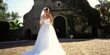 bride wedding dress long train