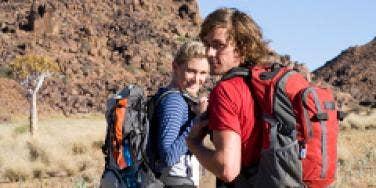Couple on hike