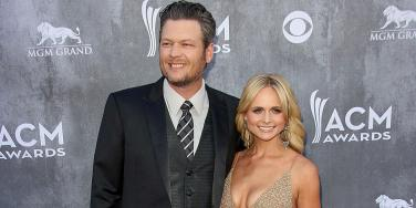 Blake Shelton and Miranda Lambert on the red carpet at the ACM (Academy of Country Music) Awards 2014