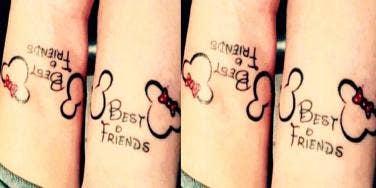 Disney best friends tattoos ideas