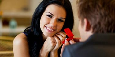 woman smiling on date