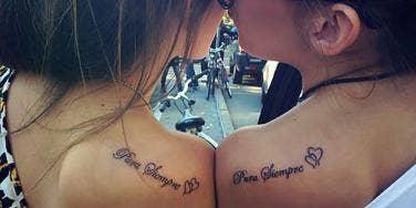 best friend quote tattoos