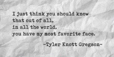 Tyler Knott Gregson Instagram Love Poems