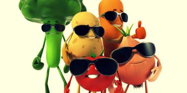 veggies in shades