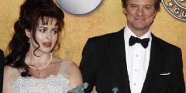 Colin Firth Helena Bonham Carter 2011 oscars nominees The King's Speech