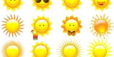 sunshine emoticons