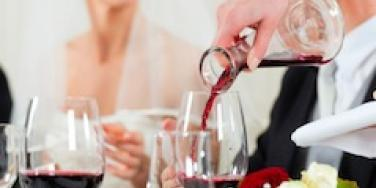 wine at a wedding